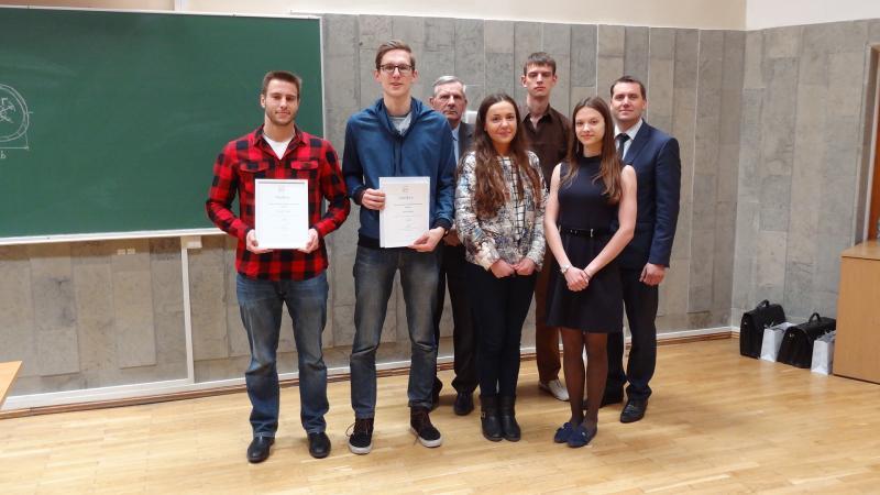 Tarp Medžiagų mechanikos olimpiados prizininkų – VGTU studentai