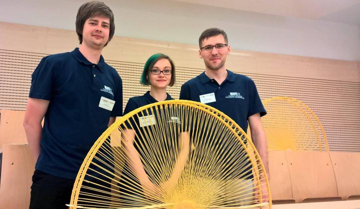 VGTU studentai pagerino Lietuvos rekordą pasauliniame makaronų tiltų čempionate