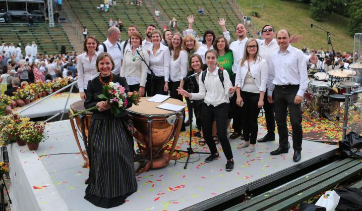 VGTU choristai – Kauno dainų ir šokių šventėje