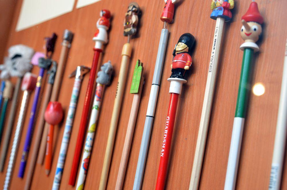 VGTU bibliotekoje atidaryta pieštukų paroda