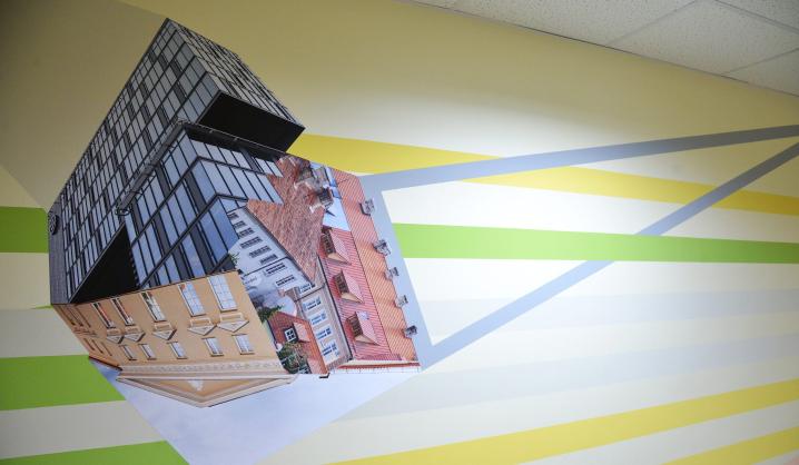 Rugsėjį VGTU studentus pasitiks meninė instaliacija universiteto koridoriuje
