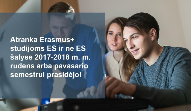Kviečiame teikti paraiškas Erasmus+ studijoms užsienio universitetuose