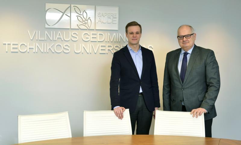 Gabrielius Landsbergis ir VGTU rektorius aptarė aukštojo mokslo aktualijas