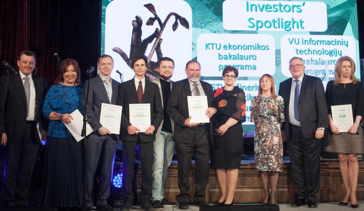 "VGTU studijų programoms – ""Investor Spotlight"" kokybės ženklas"