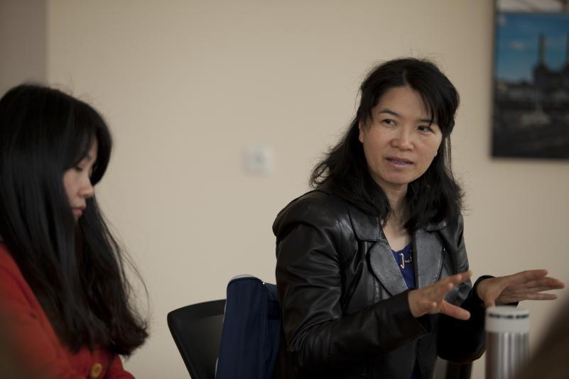 Mišraus mokymosi ekspertė iš Kinijos dalinosi patirtimi