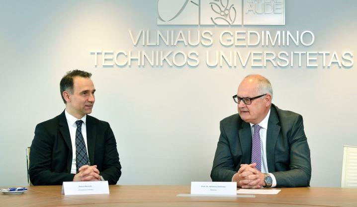 Stiprinama partnerystė: VGTU viešėjo LR susisiekimo ministras R. Masiulis