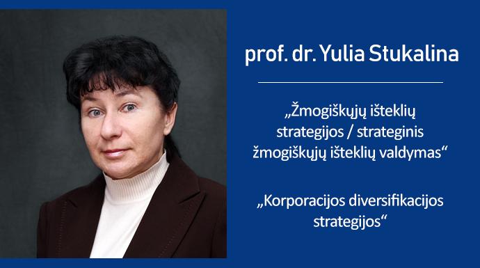 Vieša Transporto ir telekomunikacijų instituto (Latvija) profesorės dr. Yulia Stukalina paskaita