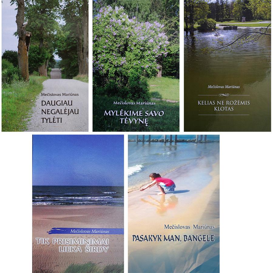 Mečislovo Mariūno poezijos knygos