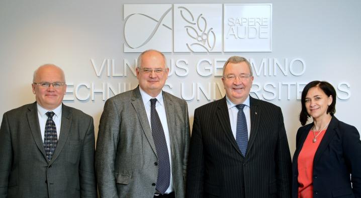 VGTU lankėsi Talino technologijos universiteto rektorius