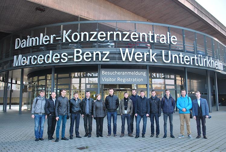 Transporto technologinių įrenginių katedros studentų ir dėstytojų delegacija lankėsi Vokietijos universitetuose