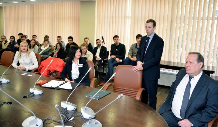 Studentai iš Valonijos verslauti mokėsi VGTU