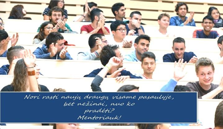 Kviečiame studentus registruotis į Erasmus mentorių gretas