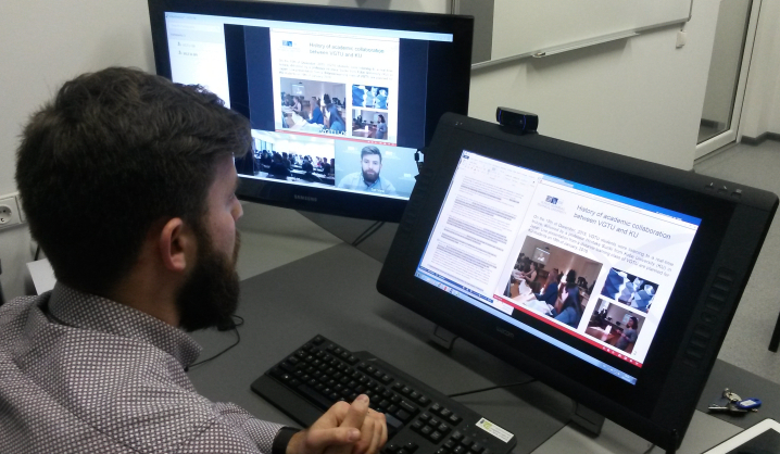Students in Japan listened to a direct lecture from VGTU